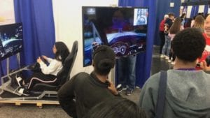 Comcast Commitment to Safe Driving Habits through Simulated Driving Experience at Career and Education Day
