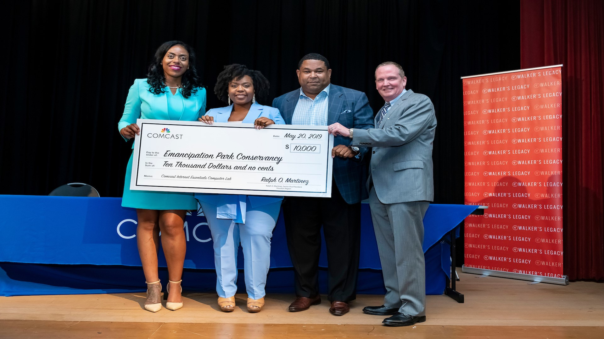 Comcast donates k to Emancipation Park Conservancy at Women in Tech Event