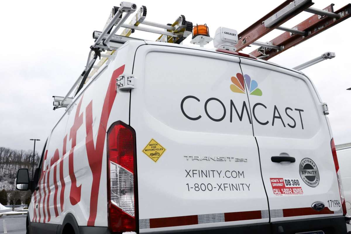 An Comcast Xfinity technician van